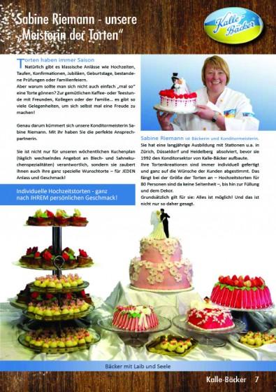 Kalle-Bäcker Kundenzeitschrift aktuell Sabine Riemann