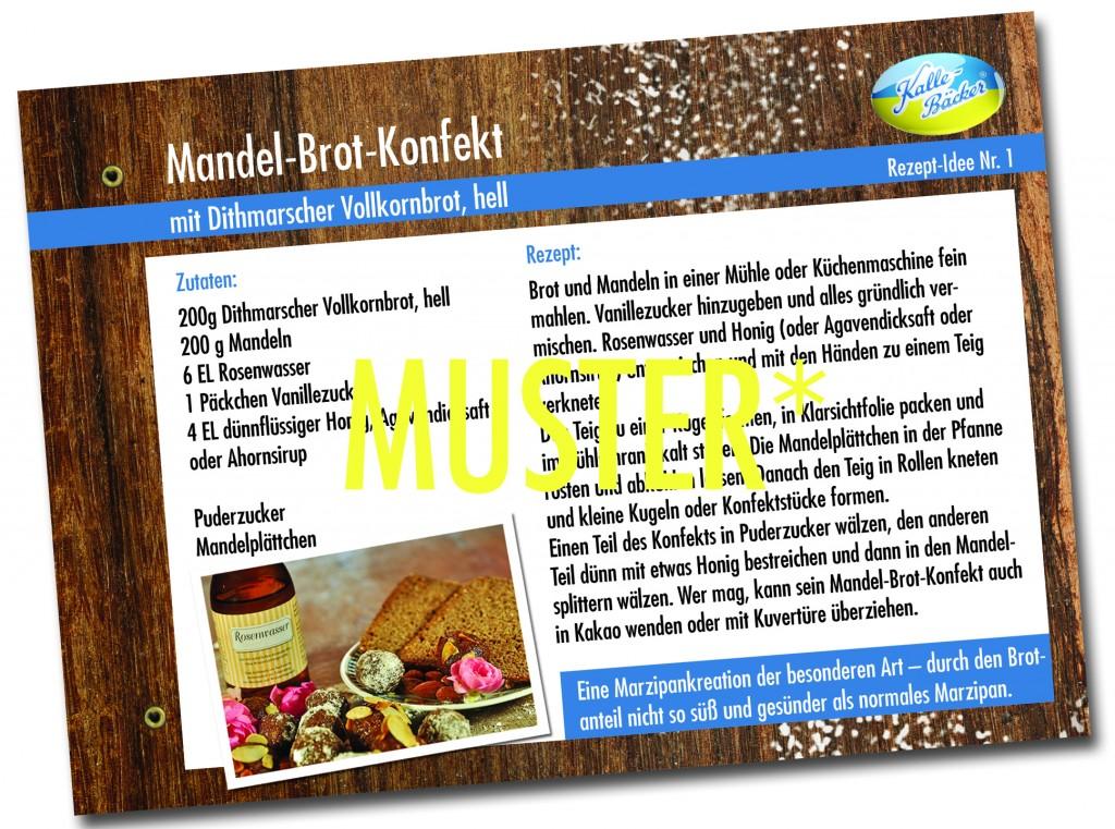 Kalle-BäckerRezept-Sammelkarte Muster