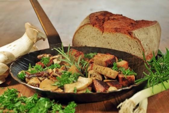 Pilz-Brot-Pfanne, Rezeptidee Nr. 2