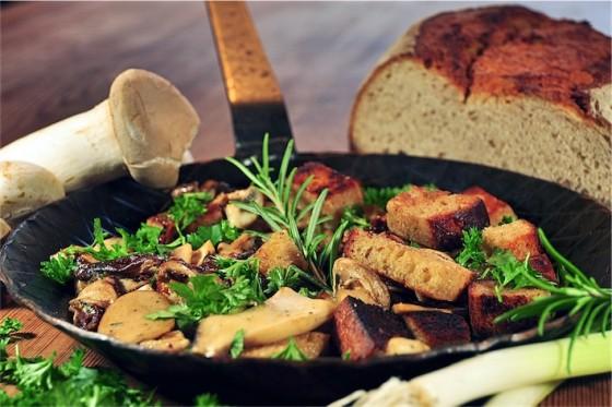 Brot-Pilzpfanne, Rezeptidee Nr.2