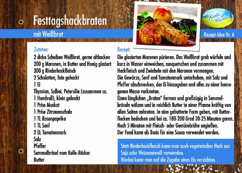 Festtagshackbraten vom Kalle-Bäcker, Rezepttipp Nr. 6