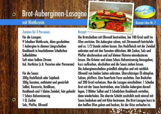 Rezepttipp Nr.7: Brot-Auberginen-Lasagne