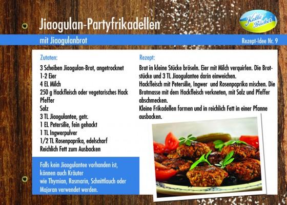 Rezeptkarte Jiaogulan-Partyfrikadellen