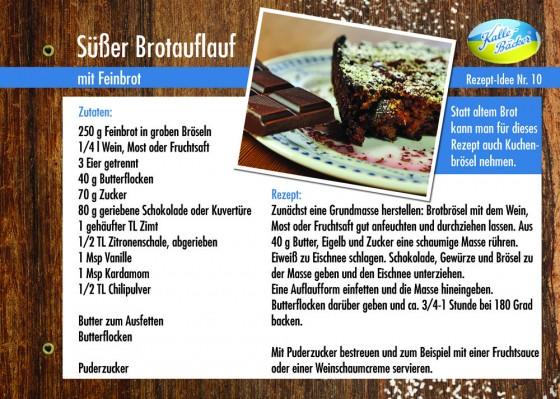 Süßer Brotauflauf, Rezepttipp Nr. 10, Kalle-Bäcker, Feinbrot