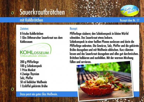 Sauerkrautbrötchen, Kalle-Bäcker, Kohltage