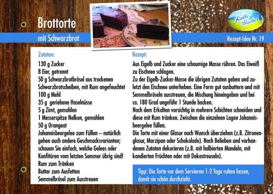 Kalle-Bäcker, Brottorte, Rezepttipp