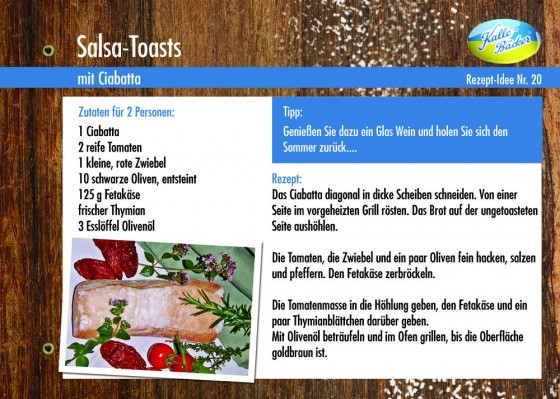 Rezepttipp Salsa-Toast vom Kalle-Bäcker