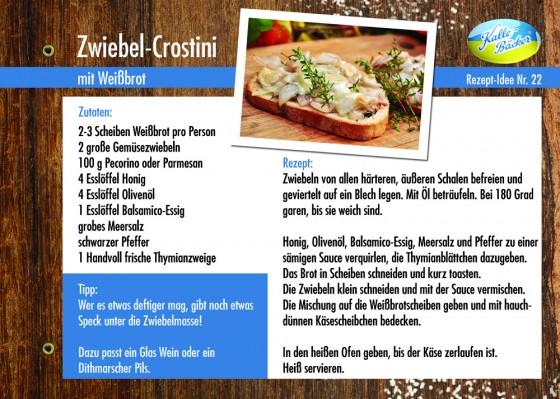 Zwiebel-Crostini, Rezepttipp Nr. 22, Kalle-Bäcker