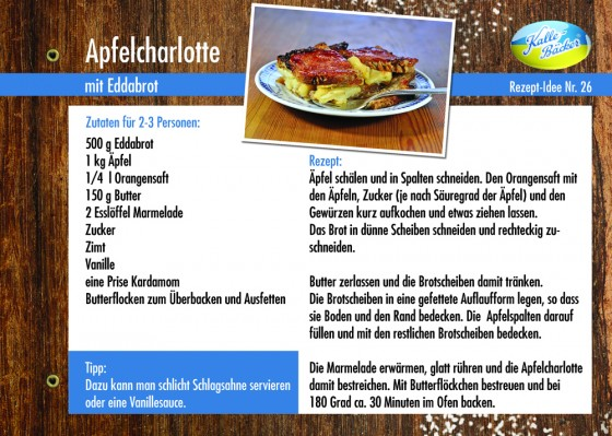 Kalle-Bäcker Apfelcharlotte aus Edda-Brot