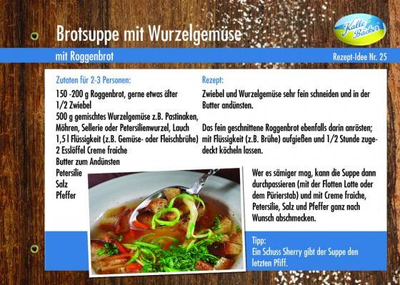 Kalle-Bäcker Brotsuppe mit Wurzelgemüse