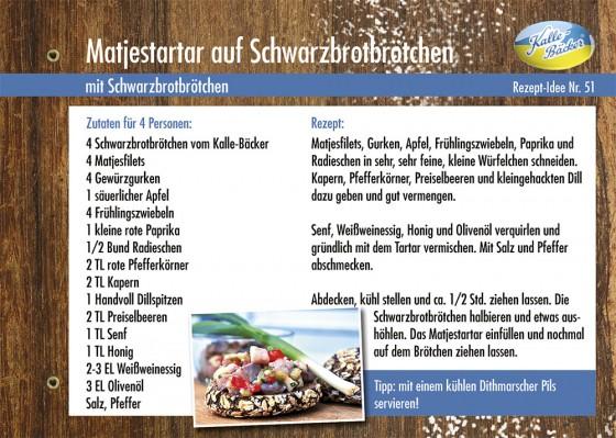 Rezepttipp, Kalle-Bäcker, Matjestartar
